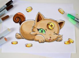 Baby Meowth by Lighane