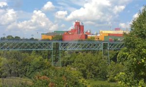 The Genesee brewery and walking bridge by Android-shooter