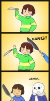 Undertale  frying pans by The-Great-Pipmax