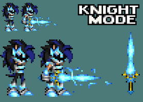 Nico: Lightning knight mode by xXDaBoss99Xx
