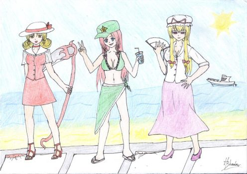 Touhou Summer clothes! by ShadowHeartbreaker