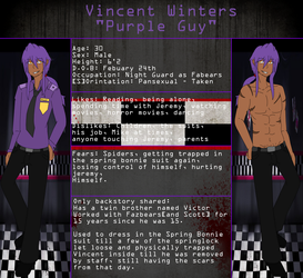 .: Vincent Winters - The Purple Guy Ref :. by TheStevieBoy