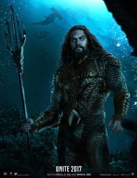 Justice League Aquaman Poster by ehnony