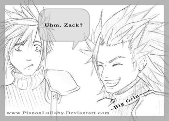 Cloud and Zack SKETCH by PianoxLullaby