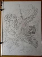Hellboy/pencils/work in progress by rogercruz