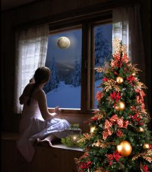 Watching For Santa by Shirley-Agnew-Art
