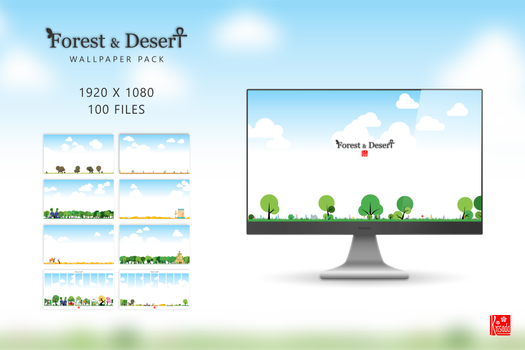 Forest and Desert: Wallpaper Pack by Krisada