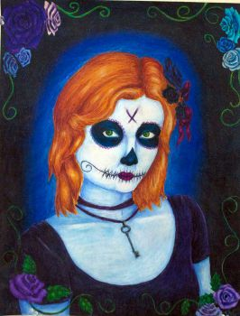 Day of the Dead self portrait by heyitstaytay