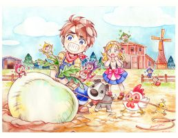 Harvest Moon Art Contest By Andrea Jen by SunitaSan