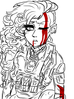 Spartan Emily doodle by AnonymousTrollF4c3