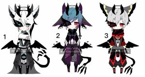 mask shinigami adoptable batch CLOSED by AS-Adoptables