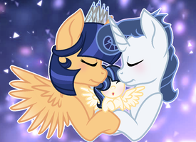 MLP spectrum-sentry and their son Night shield by VelveagicSentryYT