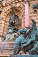 Saint-Michel Fountain II by somadjinn