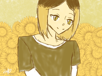 Sunflower Kenma by WhiteWolfPrincess