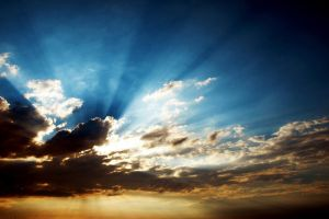 sunbeams wallpaper by vanerich