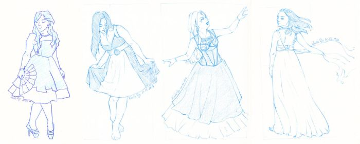 Fancy Ladies - sketches by LualaDy