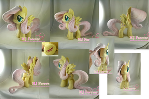 Fluttershy plushie (commission) by moggymawee