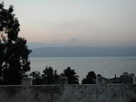 Sea of Galilee before sunrise by dudecon
