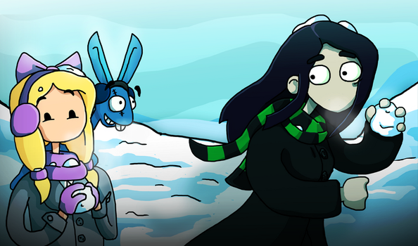 Edna and Harvey : Fun In The Snow by Saira-Dragon
