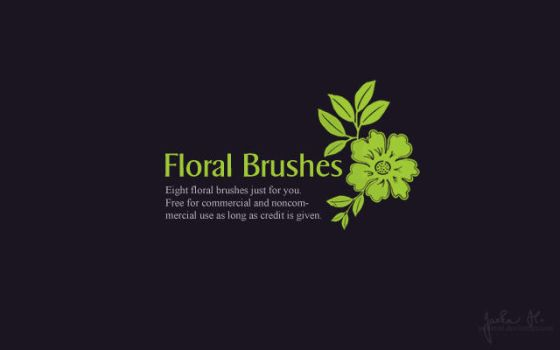 Resources: Floral Brushes by pelleron