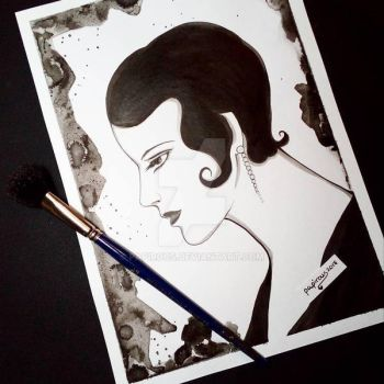 Ink Lady ( 1920s lady series ) by papirous