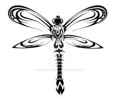 Tribal Dragonfly Design by ShadowKira