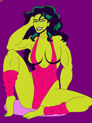 She-Hulk Pinup by CountBedlam