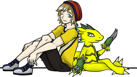 Aaron and Velocimon by Gomamon4life