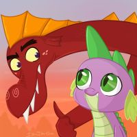 Good job little spike by Isa-Isa-Chan