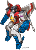 Commission: Starscream by FoxxFireArt