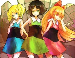 the powerpuff girls by FLAFLY
