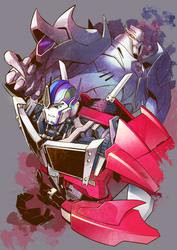 TFP Optimus and Megatron by ai-eye