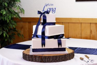 Wedding Cake With Blue Ribbon By Greensprout On Deviantart