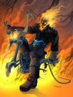 Ghost Rider- in living color by TomRaney