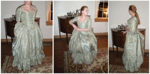 Pale 1770s Robe a l'Anglaise by jeriquan