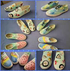 Hand painted shoes by Guppie-Vibes