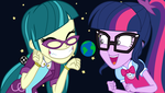 Juniper and Sci-Twi: The Goddesses of Earth by BrandonTheEpicPony99