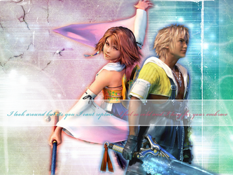 Tidus and Yuna Wall 2 by under-blue-skies
