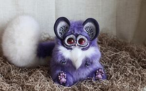 Tiny Griffins: Glowing Lavender 3 by Santani