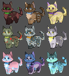 Color Experiment Adopts (4/9 OPEN) by SpottedCrows