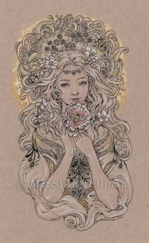 Austeja the Bee Goddess by MeredithDillman