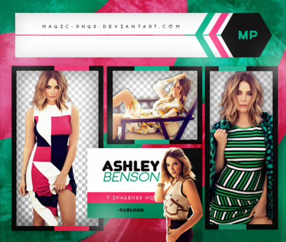 PACK PNG 469 | ASHLEY BENSON. by MAGIC-PNGS