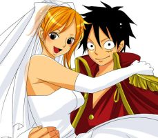 Luffy Married Nami by Stelladoll