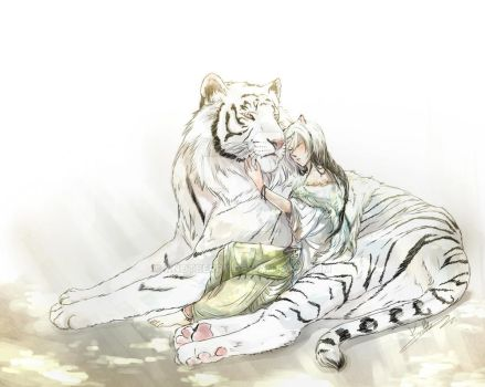 White tiger (Color ver.) by KnotBerry
