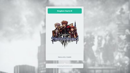 Kingdom Hearts III - Icon by Crussong