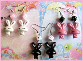 Cute Bunny Earrings by cherryboop