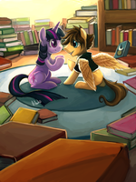 Commission 11 - Library by The-Keyblade-Pony