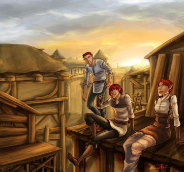 DAO: Sunset Over Denerim by shaydh