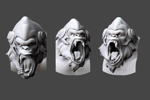 Winston facial expression study by DimensionalDrift