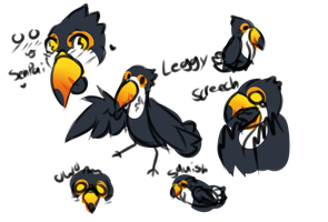 Toucan sketch page by CHlLD-ISH